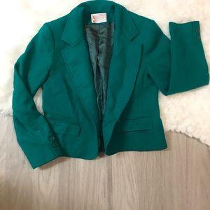 Pendleton Petite 100% Virgin Wool Green Blazer